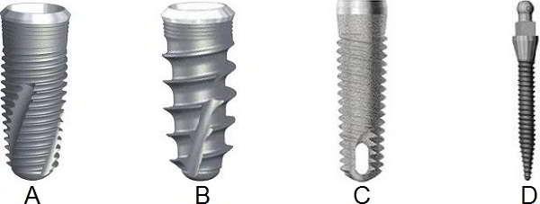 Tipuri de implanturi dentare striate
